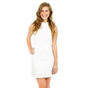 Sail to Sable eyelet white dress with ruffle M